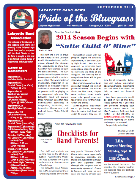 September 2014 Newsletter
