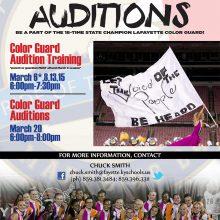 Color Guard Audition Announcement
