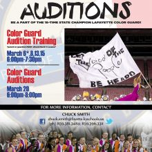 Color Guard Audition Announcement